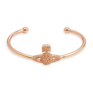 Vivienne Westwood Rose Gold Peach Grace Bangle   - Click to view larger image