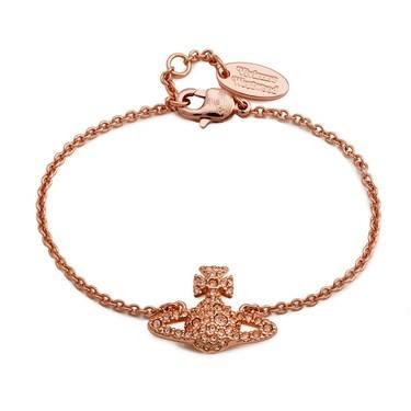 Vivienne Westwood Rose Gold Peach Grace Bracelet   - Click to view larger image