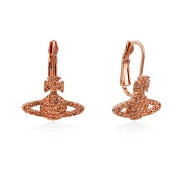 Vivienne Westwood Peach Grace Bas Relief Drop Earrings  - Click to view larger image
