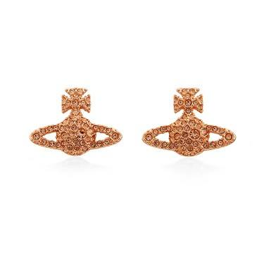 Vivienne Westwood Peach Grace Bas Relief Earrings  - Click to view larger image