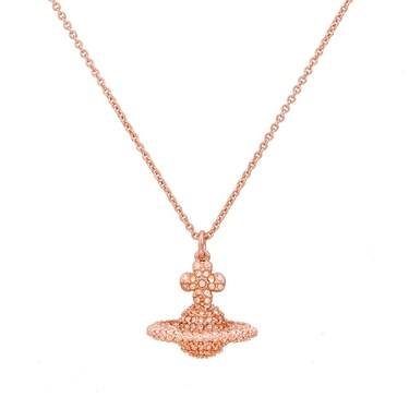 Vivienne Westwood Rose Gold Peach Grace Necklace   - Click to view larger image
