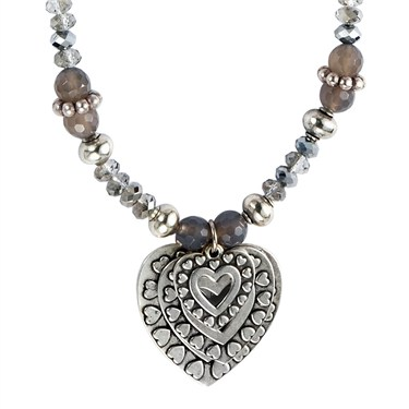 Karma Crystal Drop Hearts Necklace
