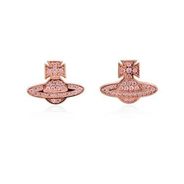 Vivienne Westwood Rose Gold Pink Romina Earrings   - Click to view larger image