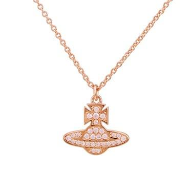 Vivienne Westwood Rose Gold Pink Romina Necklace   - Click to view larger image