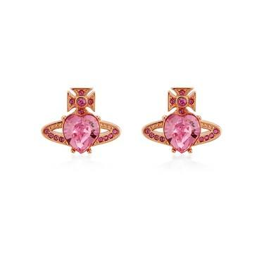 Vivienne Westwood Rose Gold Pink Ariella Earrings   - Click to view larger image