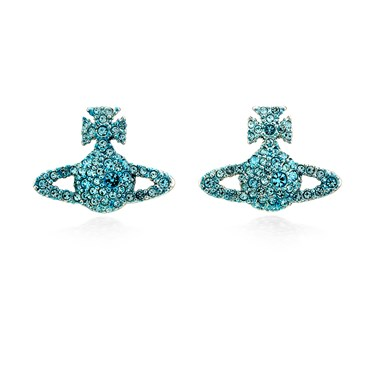 Vivienne Westwood Aqua Grace Bas Relief Earrings  - Click to view larger image
