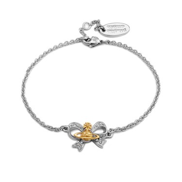 Vivienne Westwood Silver Bow Gail Bracelet  - Click to view larger image