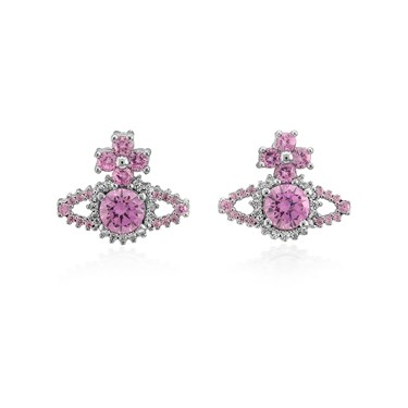 Vivienne Westwood Pink Valentina Orb Earrings  - Click to view larger image