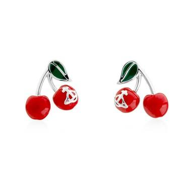Vivienne Westwood Misty Cherry Earrings  - Click to view larger image
