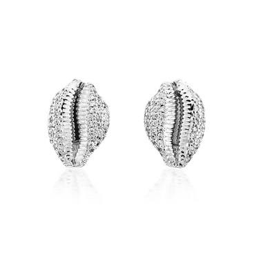 Vivienne Westwood Silver Shell Jill Earrings  - Click to view larger image