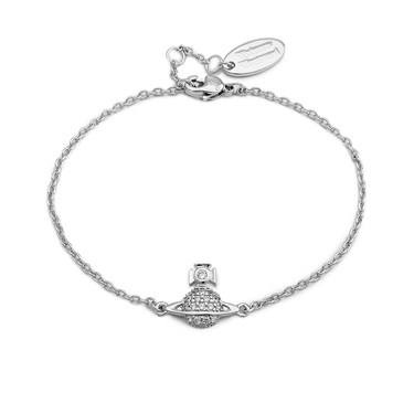 Vivienne Westwood Silver Crystal Tamia Bracelet  - Click to view larger image