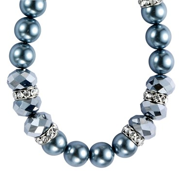 Karma Ice Blue Beaded Necklace