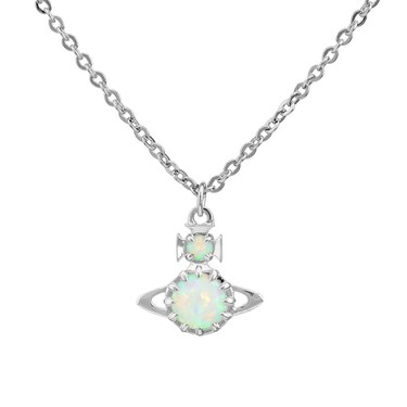 Vivienne Westwood Silver Opal Latifah Necklace  - Click to view larger image