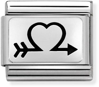 Nomination Silver Heart Arrow Charm
