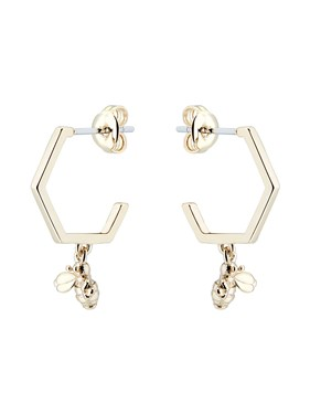 Ted Baker Gold Bumblebee Hoop Earrings  - Click to view larger image