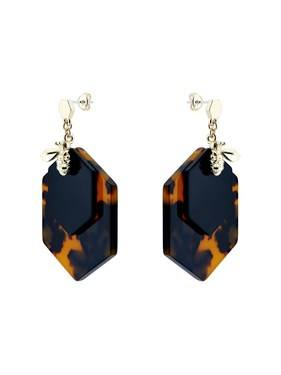 Ted Baker Gold Tortoiseshell Bumblebee Earrings   - Click to view larger image