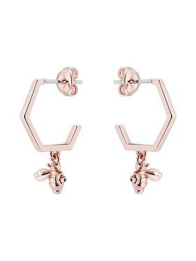 Ted Baker Rose Gold Bumblebee Hoop Earrings  - Click to view larger image