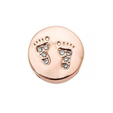 Karma Rose Gold Baby Feet Charm   - Click to view larger image