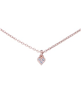 Ted Baker Rose Gold Mini Heart Choker Necklace  - Click to view larger image