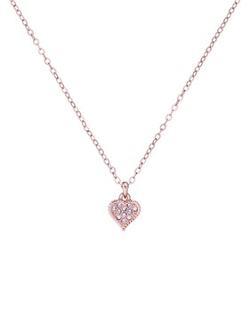 Ted Baker Rose Gold Hidden Heart Necklace  - Click to view larger image