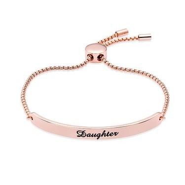 Karma Rose Gold Daughter ID Bracelet   - Click to view larger image