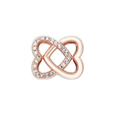 Karma Rose Gold Interlink Heart Charm  - Click to view larger image