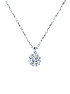 Ted Baker Silver Daisy Crystal Necklace  - Click to view larger image