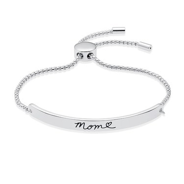 Karma Silver Mum ID Bracelet   - Click to view larger image