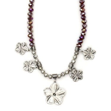 Karma Purple Daisies Necklace