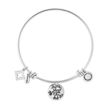 Karma Silver She Believed Bangle  - Click to view larger image