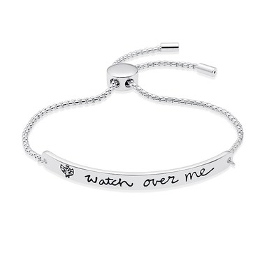 Karma Silver Watch Over Me ID Bracelet   - Click to view larger image