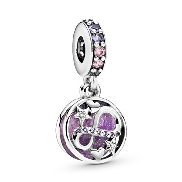 Pandora Glittering Infinity Hearts & Stars Charm  - Click to view larger image