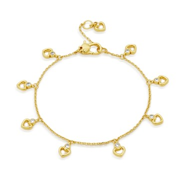 Kate Spade New York Gold Crystal Heart Bracelet  - Click to view larger image