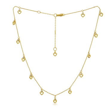 Kate Spade New York Gold Hearts Scatter Necklace  - Click to view larger image