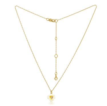 Kate Spade New York Gold Pansy Necklace  - Click to view larger image
