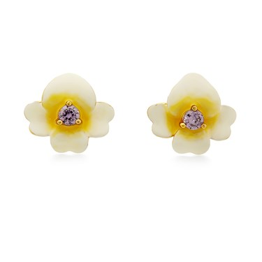 Kate Spade New York Gold Pansy Earrings  - Click to view larger image