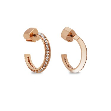 Kate Spade New York Rose Gold Crystal Huggie Earrings  - Click to view larger image