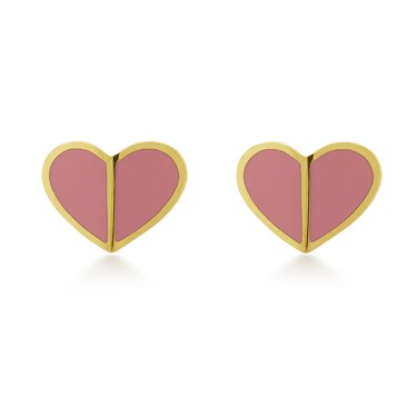 Kate Spade New York Pink Heart Spade Earrings  - Click to view larger image