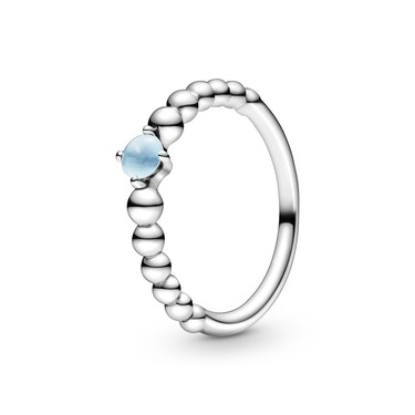 Pandora December Birthstone Beaded Ring  - Click to view larger image
