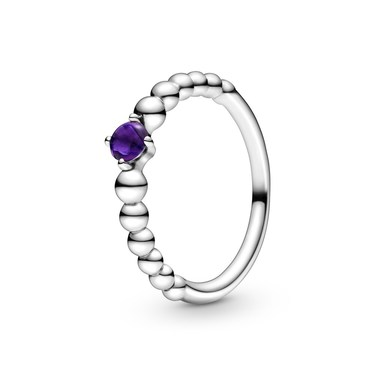 Pandora February Birthstone Beaded Ring  - Click to view larger image