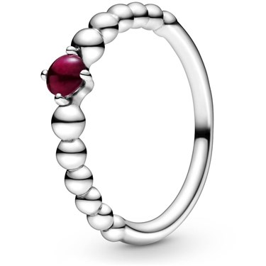 Pandora January Birthstone Beaded Ring  - Click to view larger image