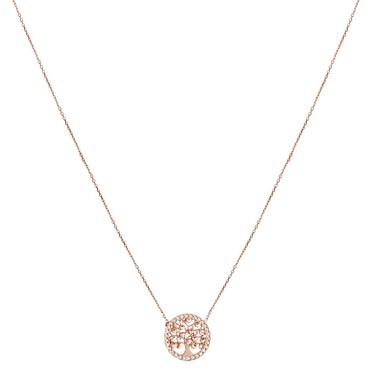 Argento Rose Gold Tree Of Life Necklace  - Click to view larger image