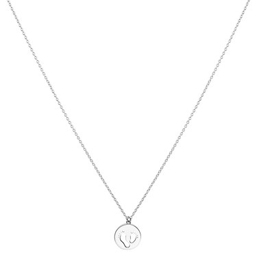 Argento Silver Baby feet Coin Necklace  - Click to view larger image
