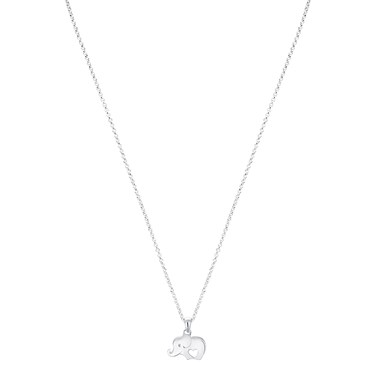 Argento Silver Elephant Heart Necklace  - Click to view larger image