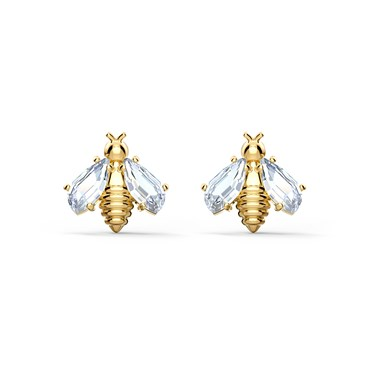 Swarovski Eternal Flower Bee Earrings  - Click to view larger image