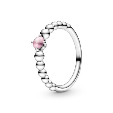 Pandora October Birthstone Beaded Ring  - Click to view larger image