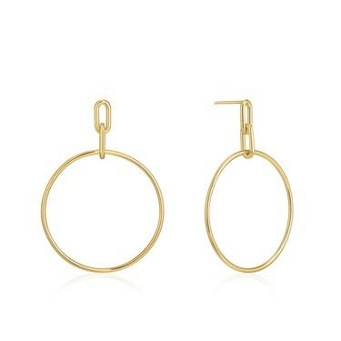 Ania Haie Gold Cable Link Hoop Earring  - Click to view larger image