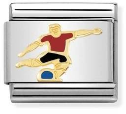 Nomination Football Player Charm  - Click to view larger image