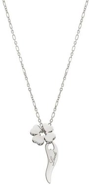 Nomination Silver Essentials Crystal Clover Necklace   - Click to view larger image