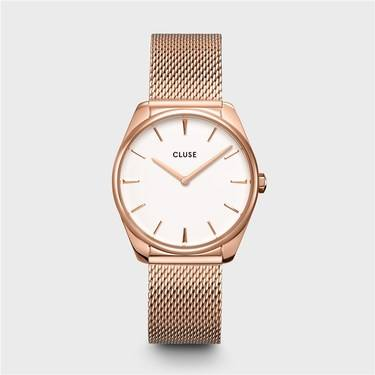 CLUSE Feroce Rose Gold Mesh Watch   - Click to view larger image